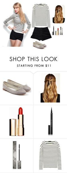 """""""And I got that red lips classic, things that you like"""" by adoreann ❤ liked on Polyvore featuring мода, Repetto, Natasha Accessories, Clarins, Givenchy, Burberry, J.Crew и Marc by Marc Jacobs"""