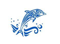 Bügelbild Tribal Delfin Flex-Folie von Folienschnitt auf DaWanda.com