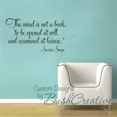 """$30 """"The mind is not a book, to be opened at will and examined at leisure."""" - Severus Snape wall art vinyl letters"""