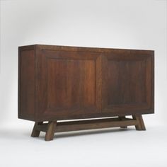 Jean Dunand, Custom Oak Sideboard, c1942.