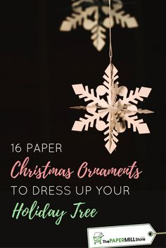 Add some #DIY charm to your holiday tree with these homemade #paper #Christmas ornaments!