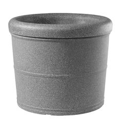 Gray Granite Large Rolled Rim. Get a quote for this commercial self-watering planter and more at EarthPlanter.com.