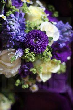Spring Purple and Lemon Wedding #flowers