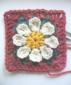 Daisy square, I won't be felting it, I think it's great just the way it is!