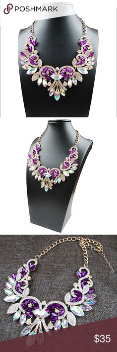 🆕 Shimmering Purple Statement Necklace Brand new. Jewelry Necklaces
