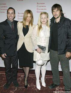 Actors Alexis Arquette, Rosanna Arquette, Patricia Arquette and David Arquette