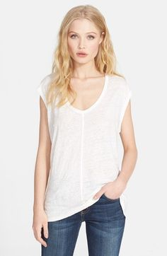 Joie 'Ivria' Burnout Linen Top available at #Nordstrom