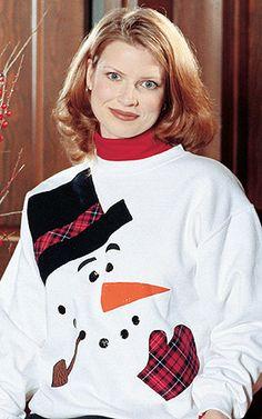 Jaunty Snowman Sweatshirt Applique ePattern