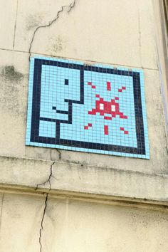 Paris 5 - rue du fer au moulin - street art - space invaders