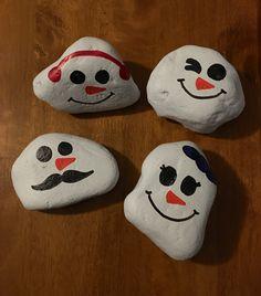 Painted Rock Snowman Northeast Ohio Rocks! #northeastohiorocks