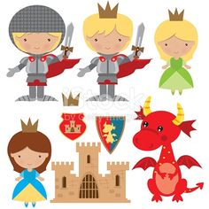 Find Medieval Knight Princess Dragon Vector Illustration stock images in HD and millions of other royalty-free stock photos, illustrations and vectors in the Shutterstock collection. Dragon Medieval, Medieval Knight, Medieval Fantasy, Castle Crafts, Castle Party, Dragons, Medieval Party, Knight Party, Dragon Party