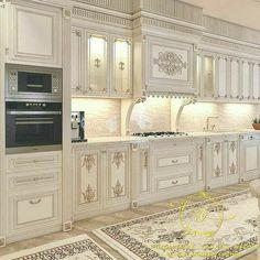 modern luxury kitchen design ideas that will inspire you 5 Luxury Kitchen Design, Kitchen Room Design, Home Room Design, Dream Home Design, Luxury Kitchens, Home Decor Kitchen, Home Interior Design, House Design, Mansion Interior