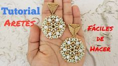 COMO HACER ARETES CON DIAMANTE DUO - TUTORIAL Crochet Earrings, Drop Earrings, Floral, Jewelry, Youtube, Crystals, Blue Prints, Jewlery, Jewerly