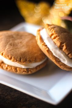 These Pumpkin Sandwich Cookies with Maple Cream Cheese Frosting are the ultimate fall cookies. Pumpkin and maple are a winning combination! This is the time of year when I love to bake cookies. Pumpkin Recipes, Fall Recipes, Holiday Recipes, Cookie Recipes, Dessert Recipes, Sweet Recipes, Fall Desserts, Delicious Desserts, Yummy Food