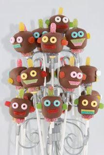 Robot Cake Pops
