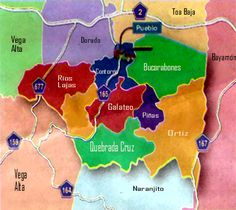 Mapa de Toa Alta, Puerto Rico (Barrios)  Toa Alta is a municipality of Puerto Rico located in the northern coast of the island, north of Naranjito; south of Dorado and Toa Baja; east of Vega Alta and Corozal; and west of Bayamón. Toa Alta is spread over eight wards and Toa Alta Pueblo.  Population: 75,105 (2011) Unemployment rate: 10.1% (Jun 2014)