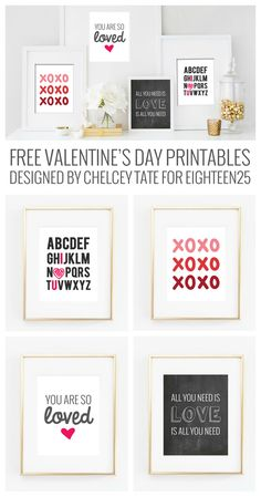 Free Valentine's Day Prints - valentine's day decorations