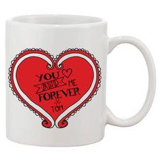 Uniek valentijnscadeau met je naam bedrukt.