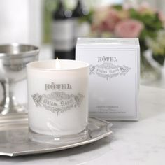 Paris Hotel Candles - We have these fancy french candles in five different fragrances!  The linen water fragrance is amazing!  - $50  www.carlyleavenue.com #paris #candles