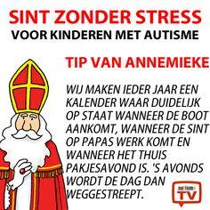 Sint zonder Stress. Een tip van Annemieke. #autisme #sintzonderstress