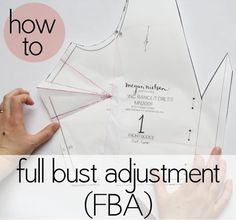 How to make a full bust adjustment.