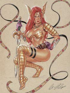 Elias-Chatzoudis,artist,Angela (Marvel),Анжела,Marvel,Вселенная Марвел,фэндомы