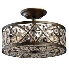Sparkling Bronze Light Fixture