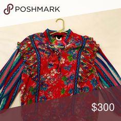 Spotted while shopping on Poshmark: Diane Freis Vintage Boho Flower and Stripes Blouse! #poshmark #fashion #shopping #style #Diane Freis #Tops