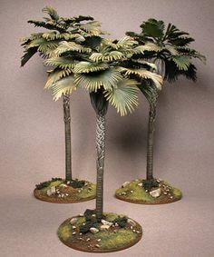 Fake Palm Tree, Palm Trees, Christmas Nativity Scene, Christmas Crafts, Palm Tree Images, Model Tree, Miniature Plants, Tree Sculpture, Miniture Things