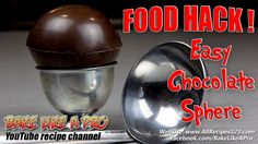 Easy Chocolate Sphere Demonstration FOOD HACK Best Food Ever, Melting Chocolate, Chocolate Recipes, Food Hacks, My Recipes, Food Videos, Food To Make, Good Food, Baking
