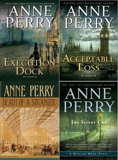 Anne Perry is one of my very favorite authors. Especially the Thomas and Charlotte Pitt Series and the William Monk Series. Great Books To Read, I Love Books, Good Books, My Books, Friend Book, Mystery Novels, Lectures, Historical Fiction, Relax