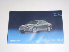 2011 Honda Accord Sedan Owners Manual Book Guide