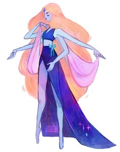 I think this is a Pearl and Sapphire fusion cause of where the gems are located on the body.