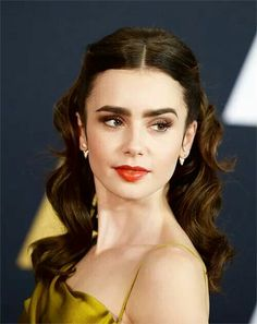 Lily Collins at The Governors Awards (November 12, 2016)  Gilded beauty