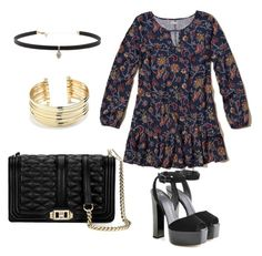 """""""Summer to Fall Outfit"""" by breannagutierres on Polyvore featuring Hollister Co., Giuseppe Zanotti, Clover, Carbon & Hyde and Belk Silverworks"""