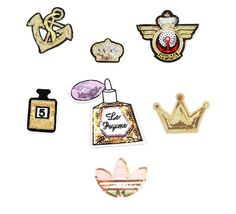 Sequin Patches Iron Patch Fashion Custom Patche for Jackets Lange Embroidery Fabric Patch Decorative Stickers Crown Spirits Anchor