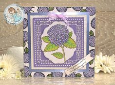 Beautiful blooming Hydrangea Card. Digi Stamp from Twinkle Lane Designs