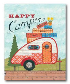 Look what I found on #zulily! Happy Camper Wrapped Canvas #zulilyfinds