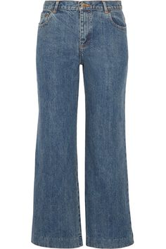 A.P.C. Atelier de Production et de Création - Sailor Cropped High-rise Wide-leg Jeans - Blue -