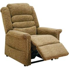 Quest Breeze Power Lift Full Lay-Out Chaise Recliner, Chestnut