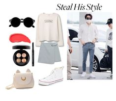 """""""Steal Sehun's Style"""" by poisonivy19 ❤ liked on Polyvore featuring Converse, MANGO, Chicnova Fashion, Usagi, MAC Cosmetics, Christian Dior, Urban Decay, Retrò, kpop and EXO"""