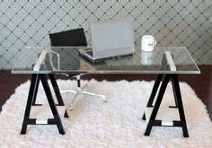 ikea table legs | Miniature IKEA Inspired VIKA Desk for 1:12 Scale Modern Dollhouse in ...