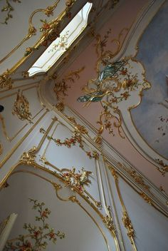 At the pearly gates Baroque Architecture, Russian Architecture, Beautiful Architecture, Architecture Details, Style Louis Xv, Spring Aesthetic, Asymmetrical Design, Rococo, Small Sculptures