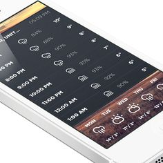 Morning Rain - iOS Weather App by Roberto Nickson, via Behance