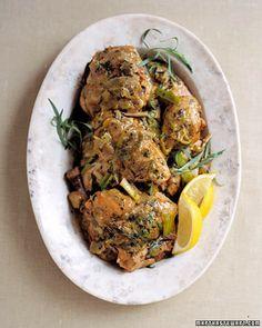 Braised Chicken Tarragon - Martha Stewart Recipes