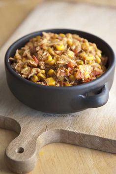 Clean Eating Tortilla Chicken Stew ~ substitute black beans for corn, use sprouted or brown rice tortillas