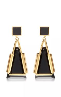 Geometric Drop Earrings by Marni Now Available on Moda Operandi