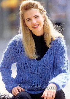 Пуловер узором медвежьи лапки, вязаный спицами Free Pattern, Knit Crochet, Turtle Neck, Pullover, Stitch, Knitting, Sweaters, Women, Ideas