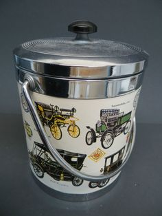 Vintage Antique Cars Ice Bucket