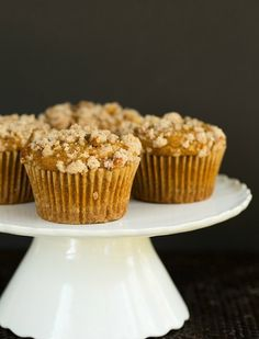 Pumpkin and Cream Cheese Muffins with Pecan Streusel @FoodBlogs